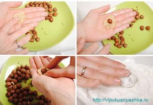 Домашние конфеты сливочные с фундуком