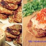 картофельные драники с пастой из лосося
