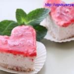 кокосово - клубничное пирожное