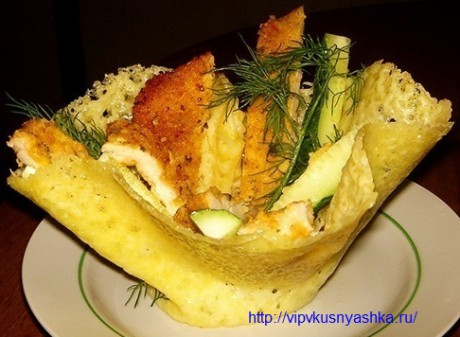 Хлебные корзиночки с сырно-рыбной начинкой