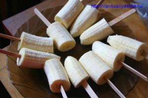 Бананы в шоколаде с орешками