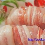 Куриные грудки в беконе