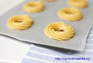как испечь пирожное заварное кольцо с творожным кремом