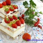 Йогуртовый торт - мини с клубникой