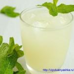 Лимонный напиток с мятой