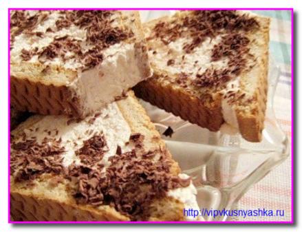 Десерт из творога с печеньем