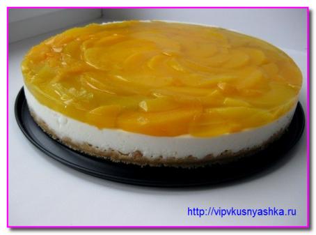 Как приготовить чизкейк с персиками (без выпечки)