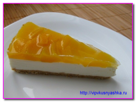 как сделать чизкейк с персиками