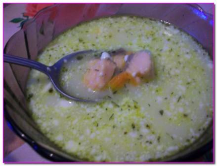 сырный суп с грибами уже готов