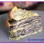 Грибной торт из блинов
