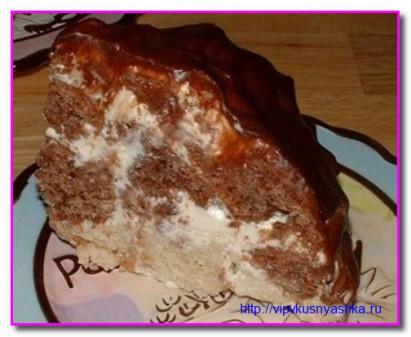 вот такой лохматый сметанный торт