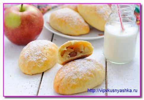 вот такие аппетитные получаются пирожки с яблоками
