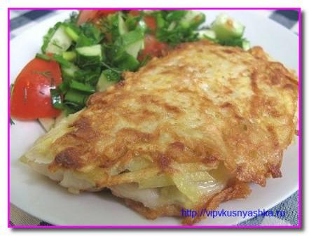 Рыба жареная в картофельной корочке