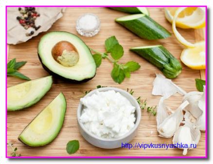 продукты для крема из авокадо
