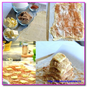 этапы приготовления домашнего хлеба с корицей