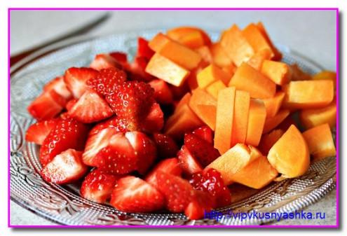 режем фрукты дольками