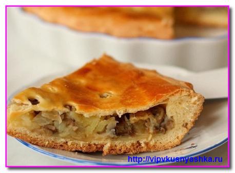 Пирог из сайры в слоеном дрожжевом тесте рецепт с фото