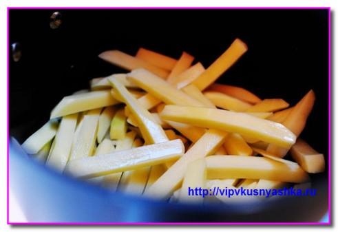 подготовим палочки для картофеля фри