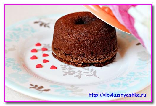 Брауни кексы с жидким центром рецепт пошагово