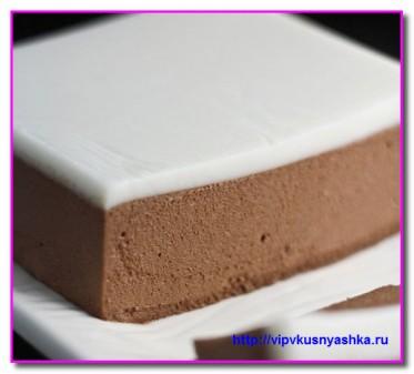 Шоколадный мусс с кремом