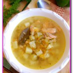 Суп из лосося с грибами