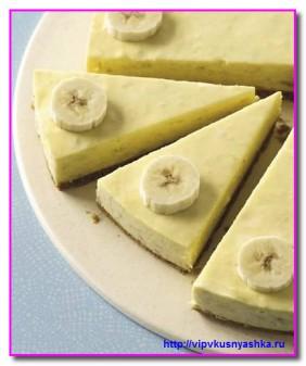 Яблочно - банановый чизкейк без выпечки