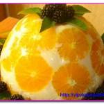 """Желейный торт """"Апельсин в йогурте"""""""