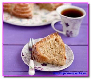 подаем вкусный кекс к чаю