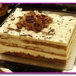 Десерт тирамису с яблоком