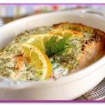 Семга в духовке под лимонным соусом