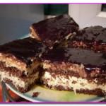 Шоколадно - кокосовый торт