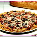 пицца из спагетти