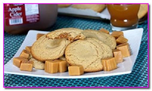 Яблочное печенье с жидкой карамелью
